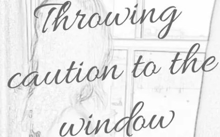letting go - sketch of missy at the window