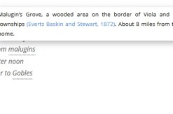 Screen shot of footnotes