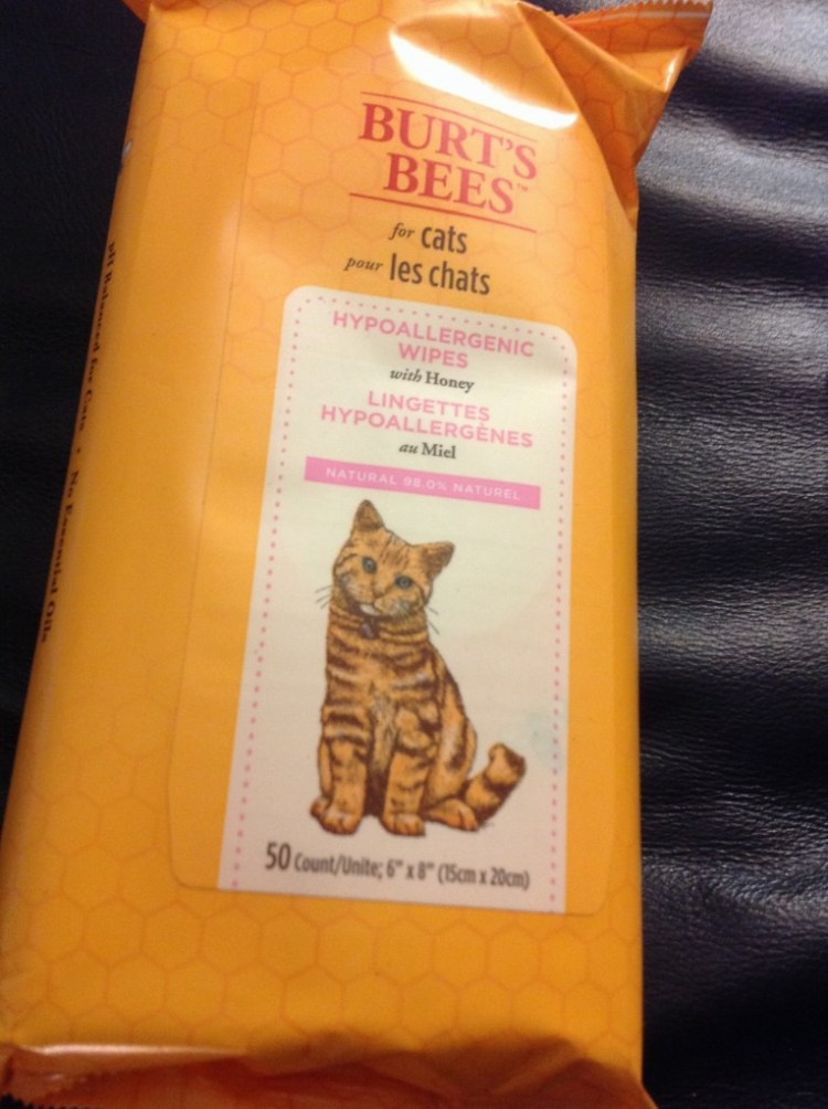 Burt's Bees - Hypoallergenic Wipes For Cats