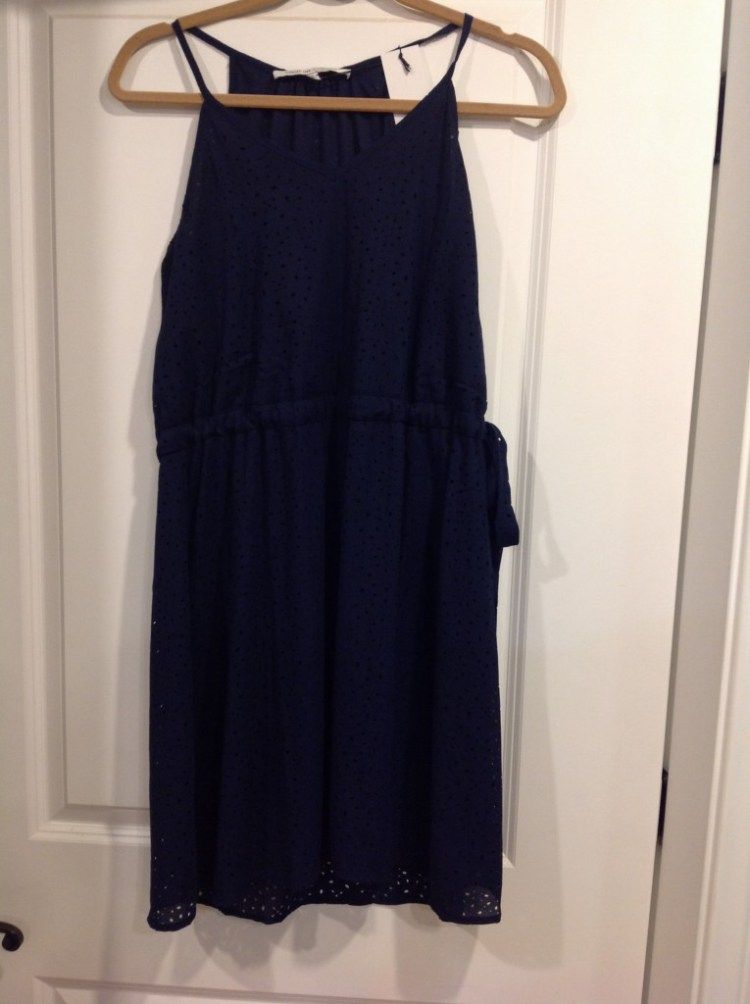 Collective Concepts Tie Waist Dress (Navy