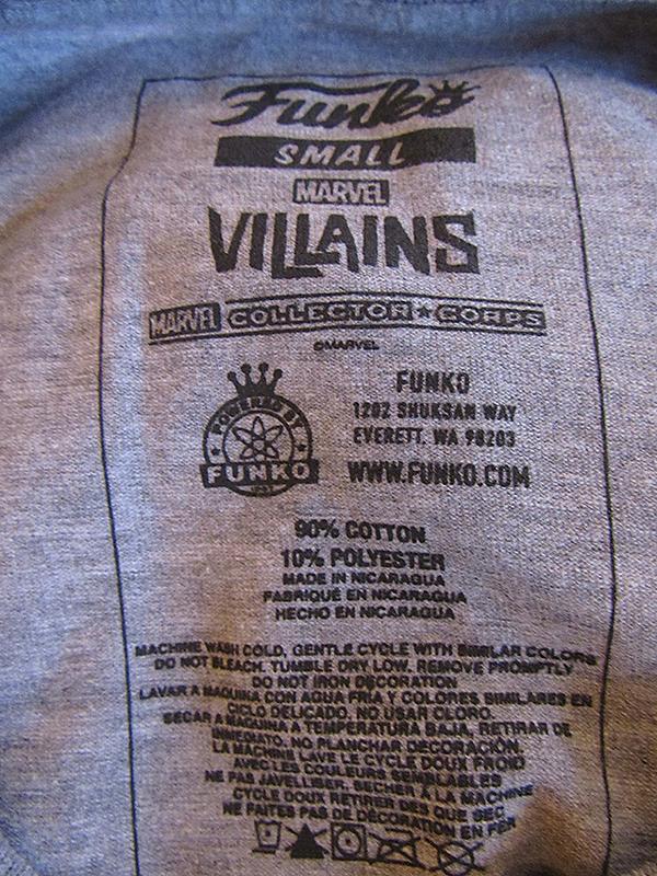 Funko Shirt Tag