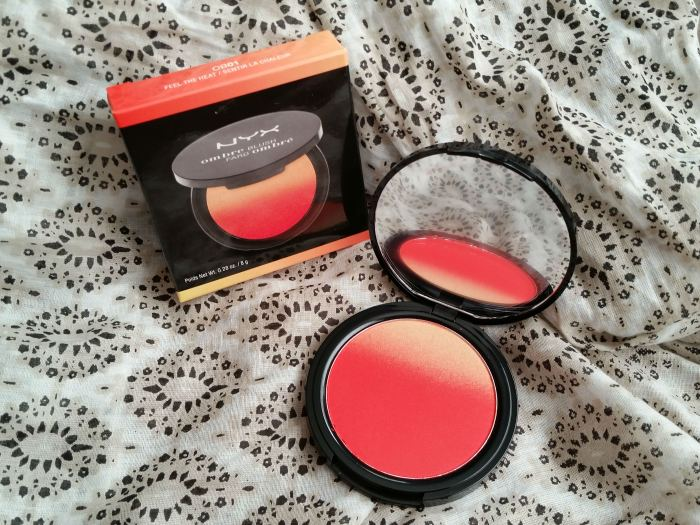 NYW cosmetics ombre blush feel the heat