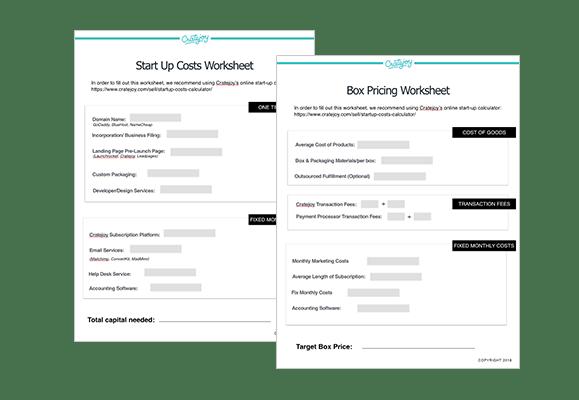 business start up costs worksheet