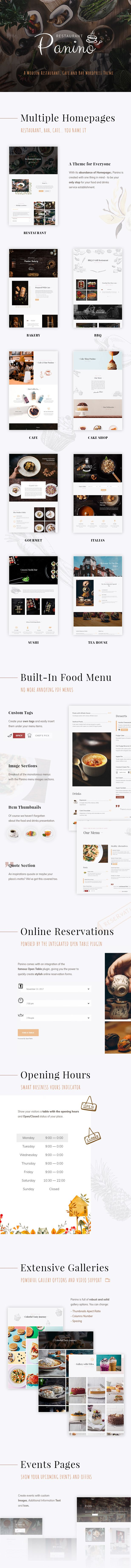Panino - A Modern Restaurant and Cafe WordPress Theme 5