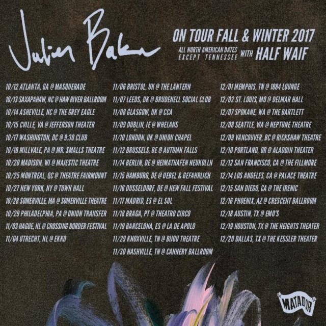 julien baker fall 2017 tour