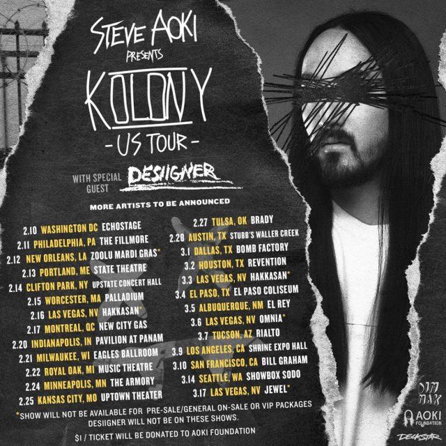 Steve Aoki Kolony Tour Desiigner