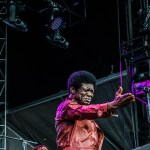 Charles Bradley and his band perform at Forecastle 2017