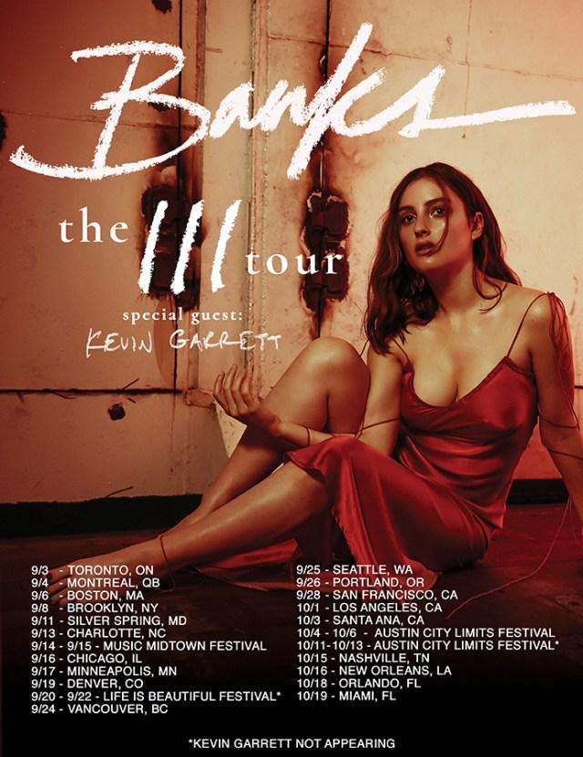 BANKS III Tour Poster