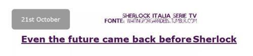 Sherlock Ritorno Al Futuro