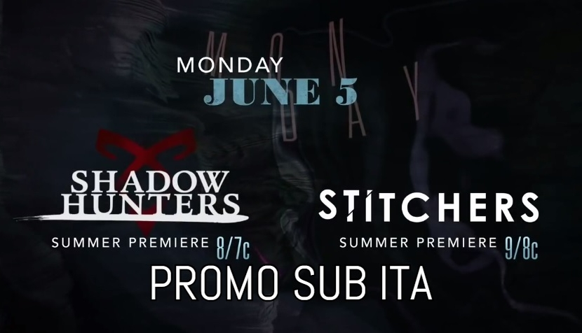Tornano Shadowhunters e Stitchers!