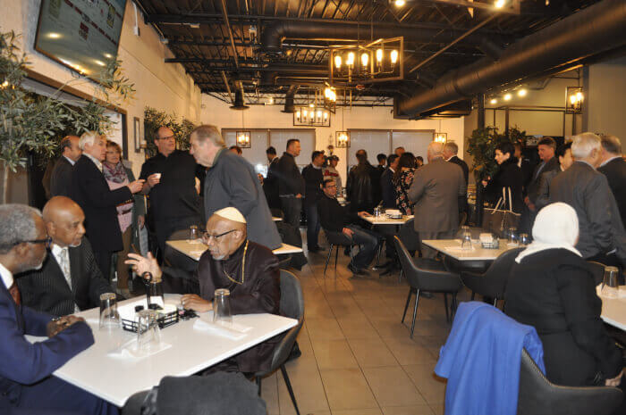 Oozi Corner Restaurant, 9115 S. Harlem Avenue, was the gracious host for the Arab American Heritage Month, April, celebration with Chicagoland elected officials and responsible members of the Arab American community. Photo courtesy of Tasneem Abuzir