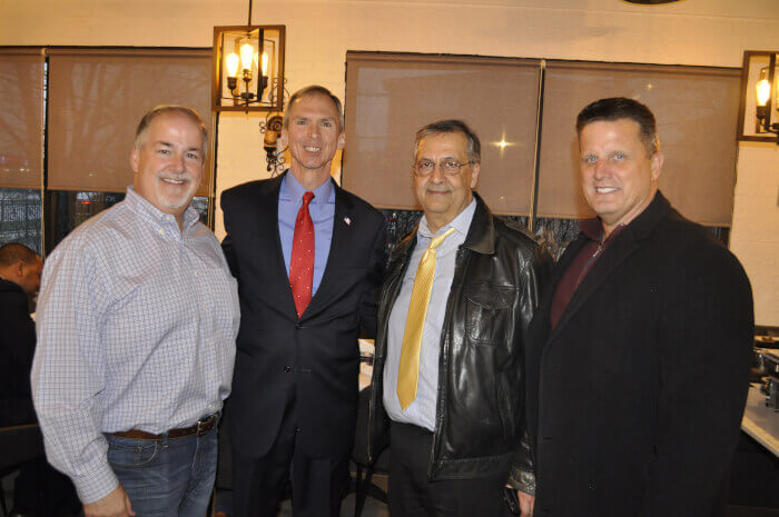 Cook County Commissioner Sean Morrison (right), Congressman Dan Lipinski, Ray Hanania and former Oak Lawn Trustee Jerry Hurckes. Photo courtesy of Tasneem ABuzir