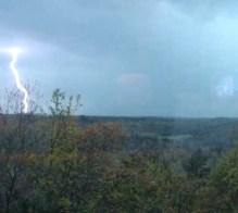 Part of a very lightning intensive storm.