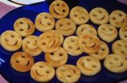 Potato smiley faces