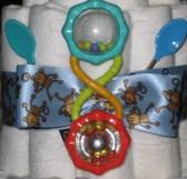 Diaper cake -  center of third  layer