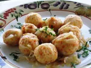 Potato carrot balls  - knedle - suburbangrandma.com