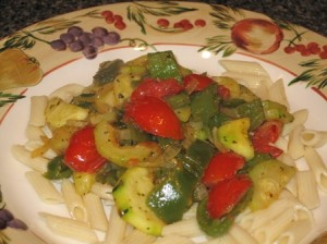 Vegetarian-meal-pasta-with-stir-fry-veggies