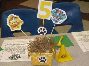 Paw Patrol Center pieces