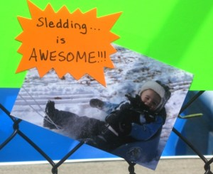 sledding is awesome