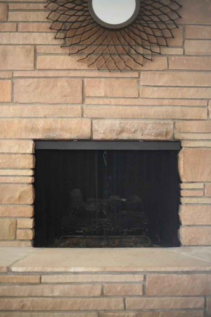 mid century fireplace screen
