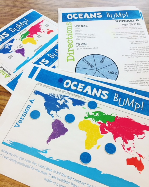 These classroom games enable kids to learn and master where the world's oceans are.