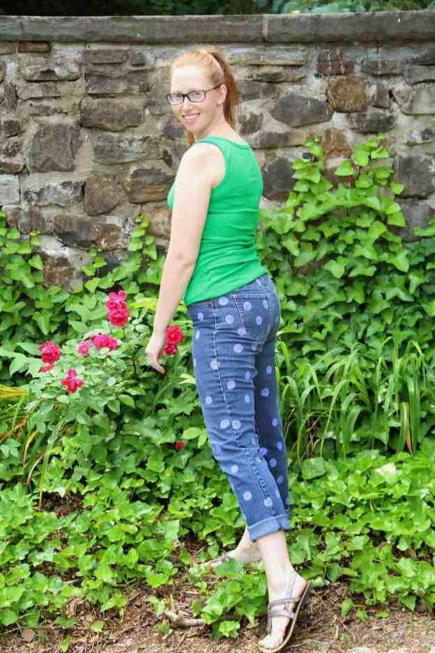 DIY polka dot pants