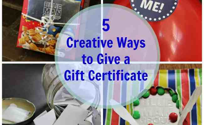 5 Creative Gift Certificate Giving Ideas Suburban Wife