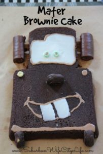 Cars Party Mater Brownie Cake