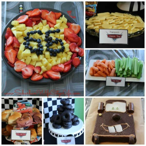 Disney Cars themed food