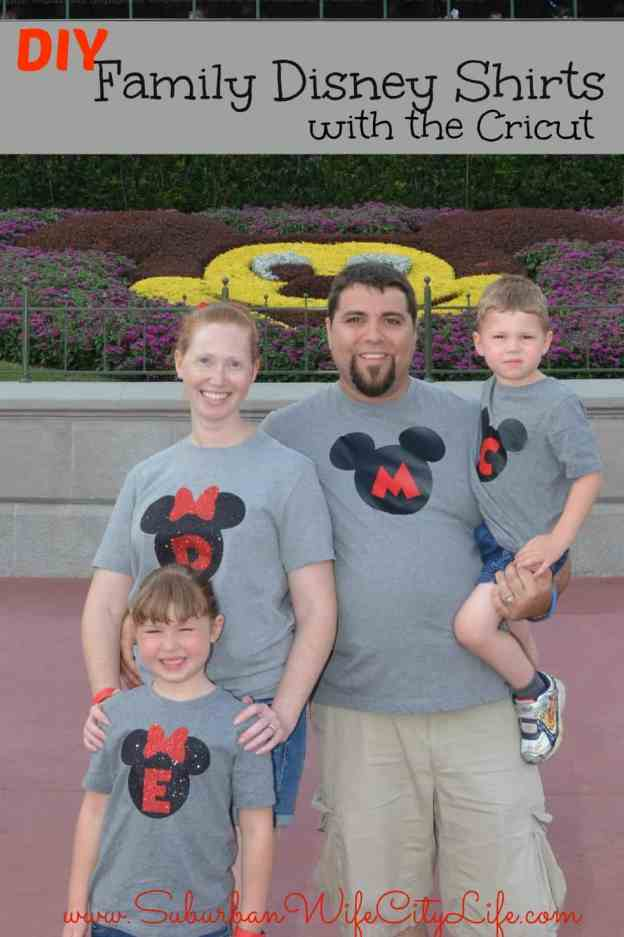 Family Disney shirts with Cricut