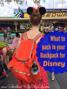 What to put in your Disney Back pack