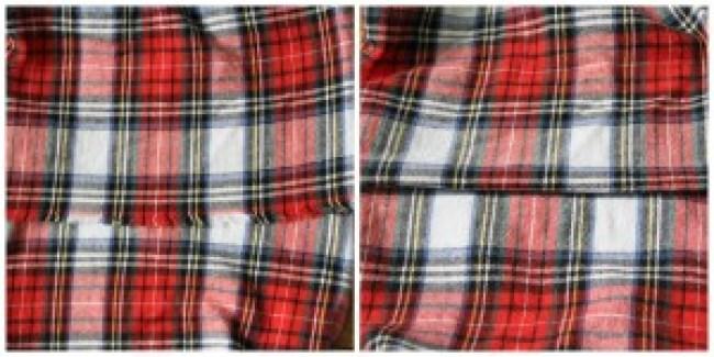 Flannel Scarf fold