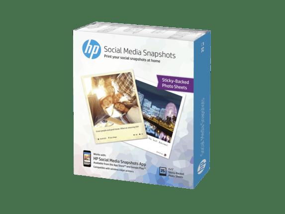 HP Social Media Snapshots Sticky Back