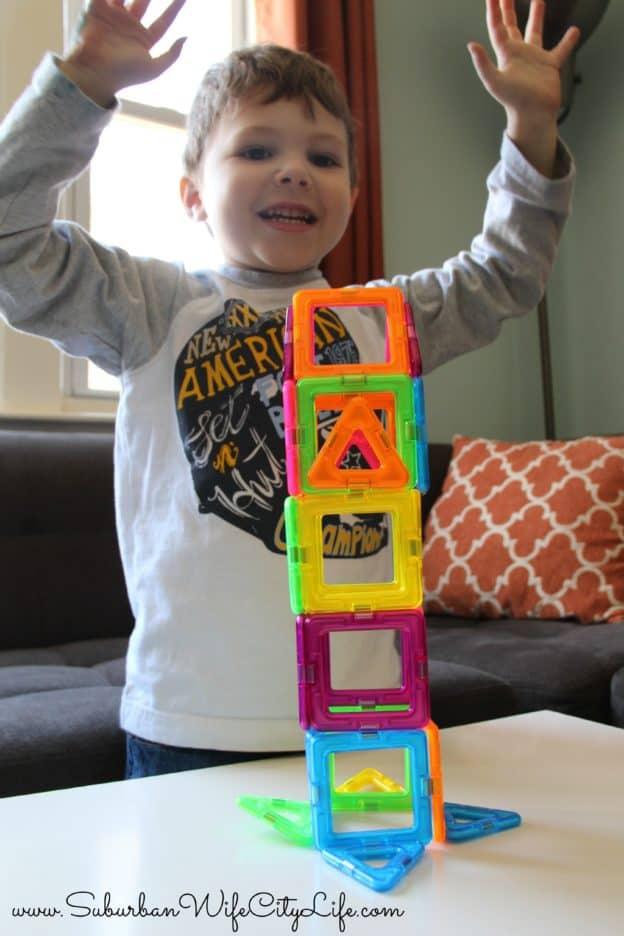 Neon Magformers build fun