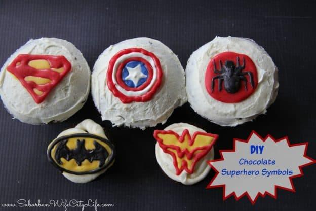 Chocolate Superhero Symbols