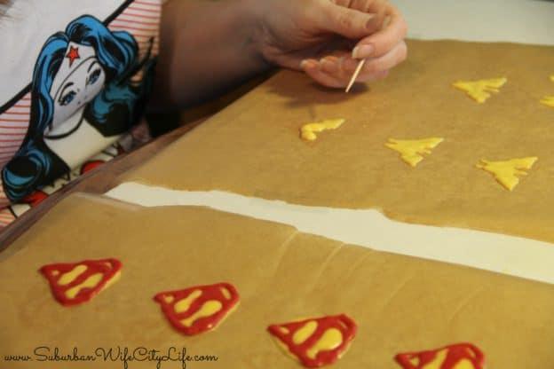How to make chocolate superhero symbols