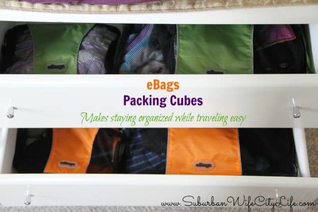 eBags Packing cubes perfect for organized drawers