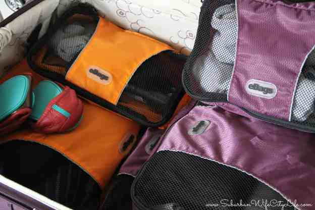 eBags Packing cubes perfect for sharing a suitcase