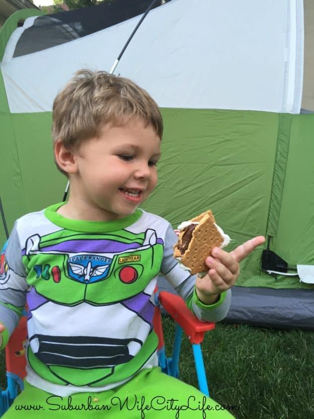 Backyard Camping S'mores