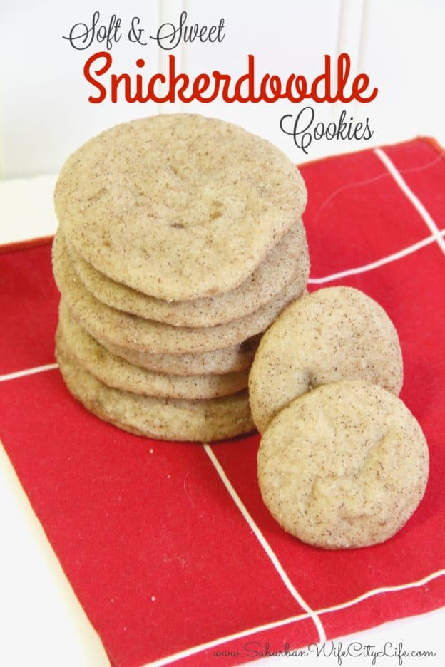 Soft & Sweet Snickerdoodle Cookies recipe