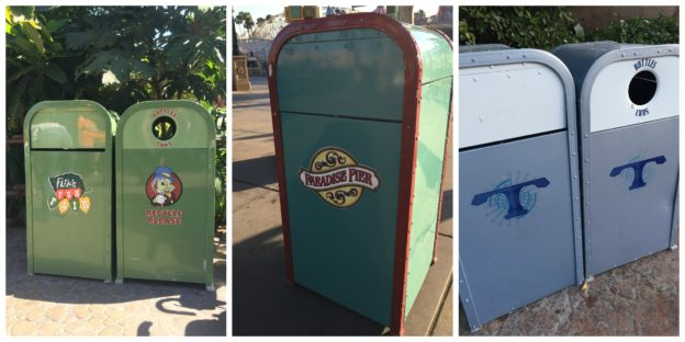 Disney Trash Cans let you know where you are in the park
