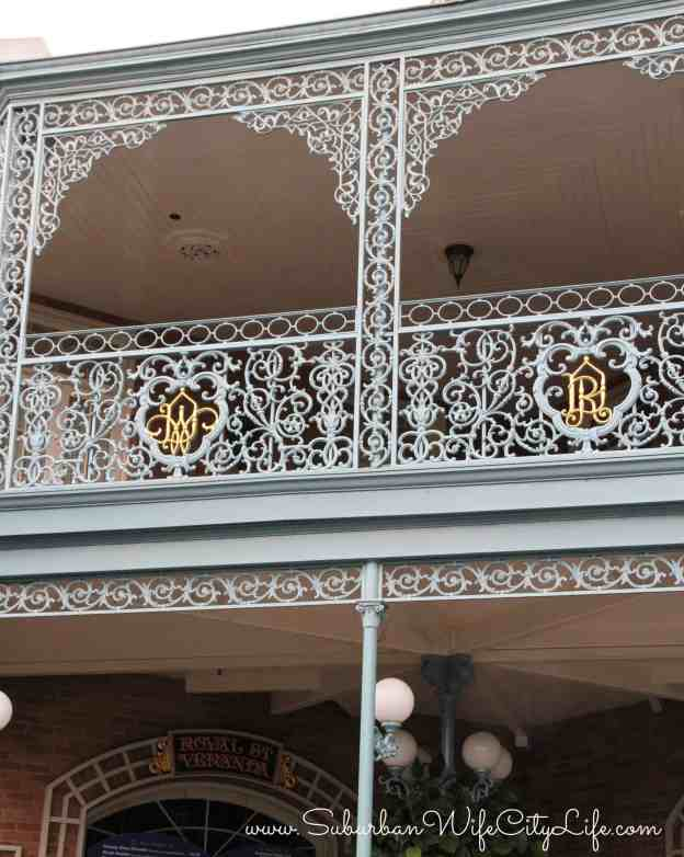 Disneyland New Orleans Square balcony