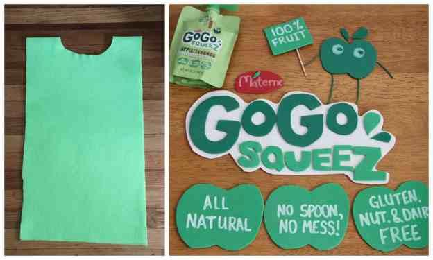 GoGo Squeez Costume Steps