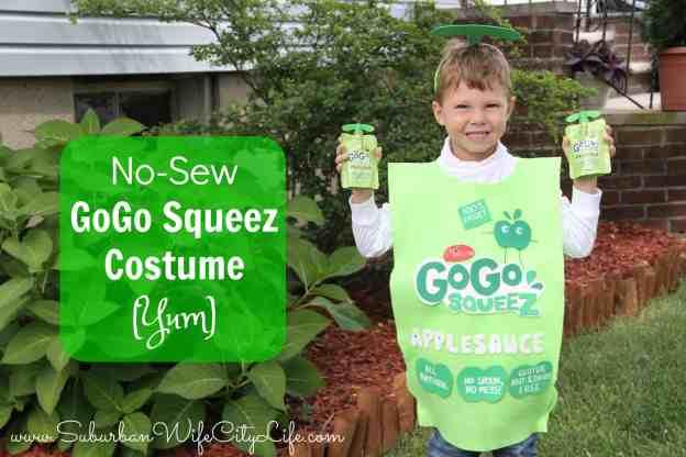 No Sew GoGo Squeez Costume