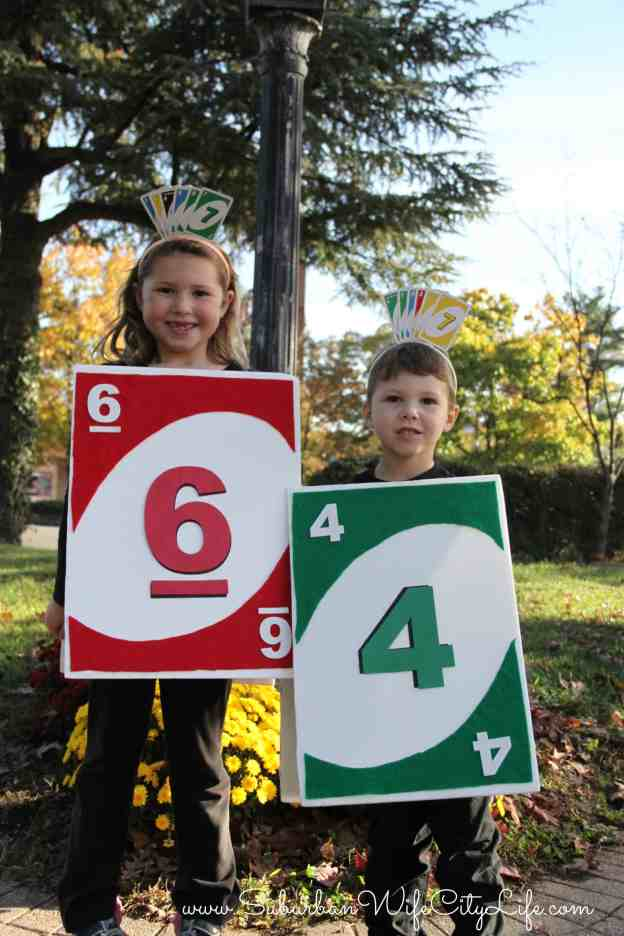 UNO Card costume with age of child as the number