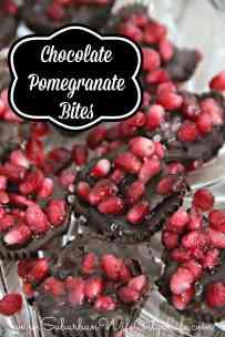 Chocolate Pomegranate Bites