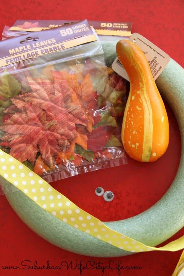 Turkey Leaf Wreath supplies