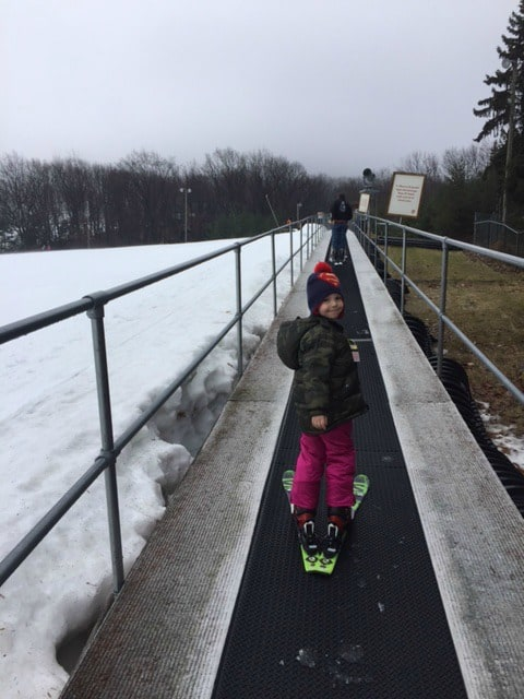 Camelback Skiing with kids