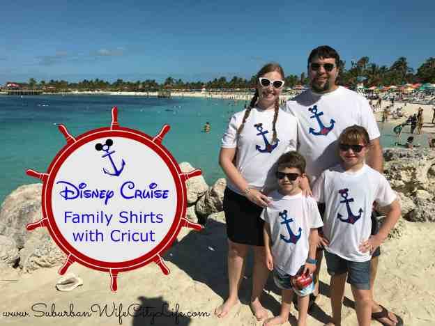 Disney Cruise shirts with Cricut