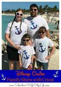 Disney Cruise Family Shirts with Cricut